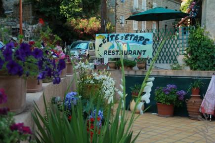 "Terrasse der Gite ""Chez Marie"" in Ota"